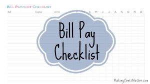 Bill Pay Checklist – With Free Printable!