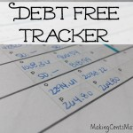 Debt Free Tracker – With Free Printable!