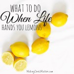 When Life Hands You Lemons…