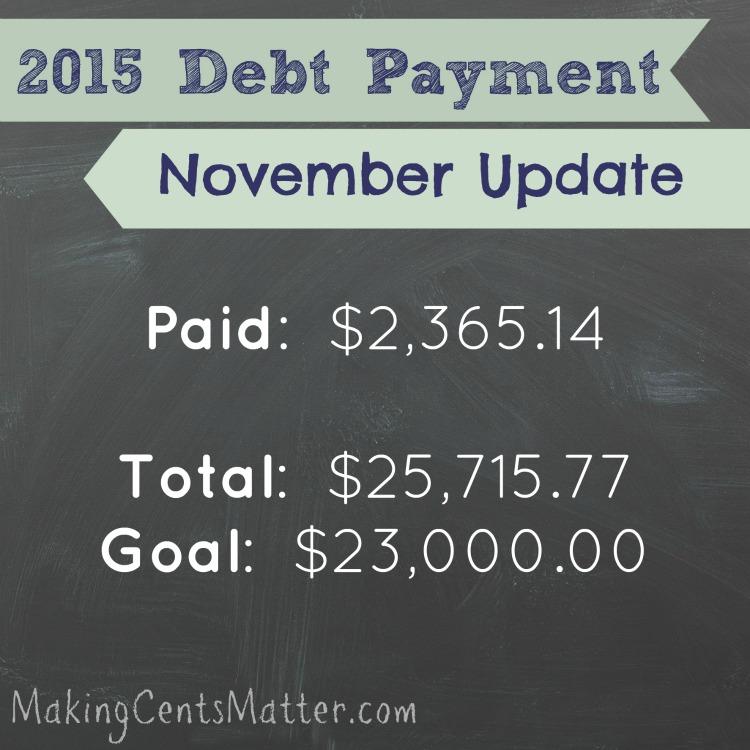 November 2015 Debt Payment