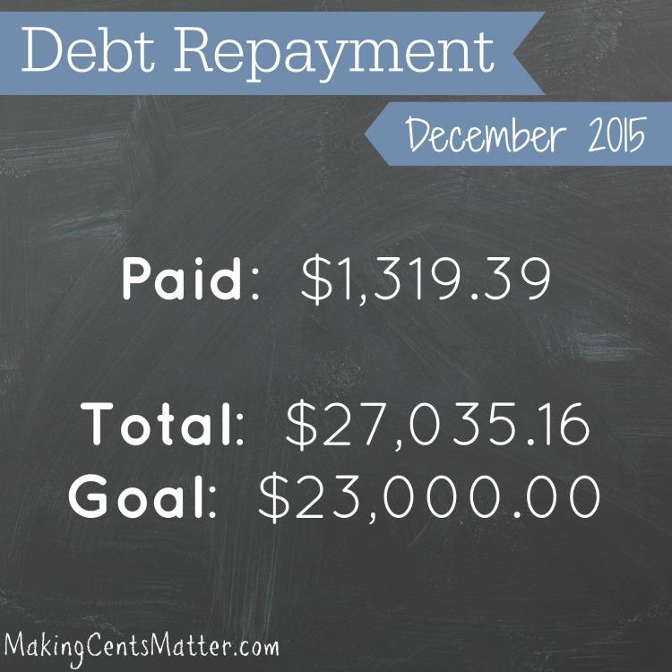 2015 December Debt Payment