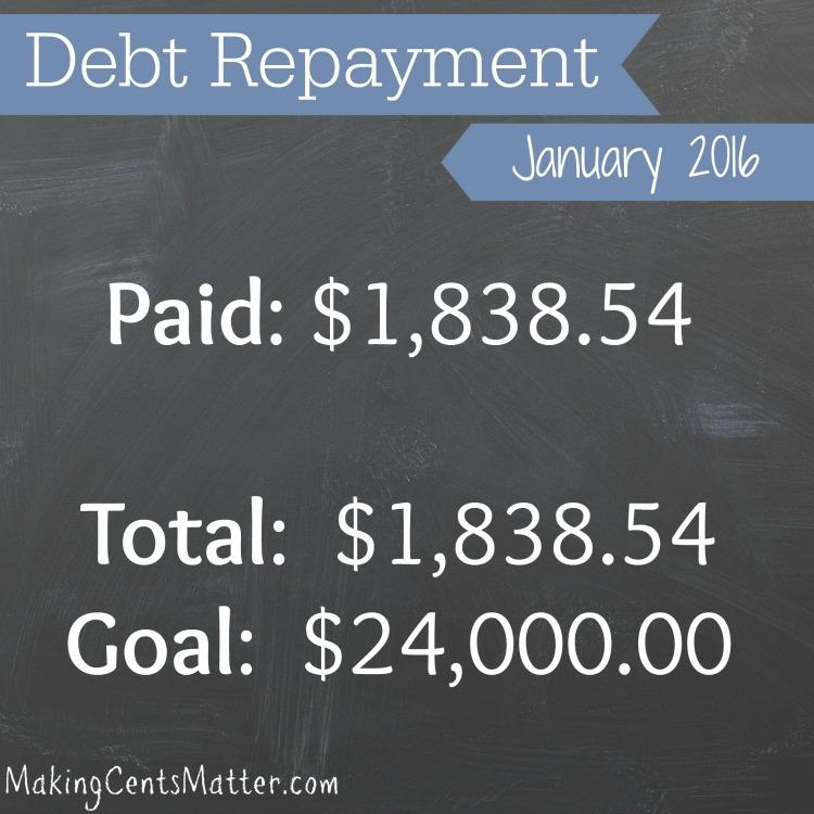 January 2016 Debt Payment