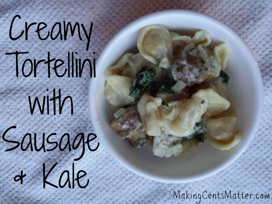 creamy tortellini sausage kale