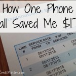 How One Phone Call Saved Me $170