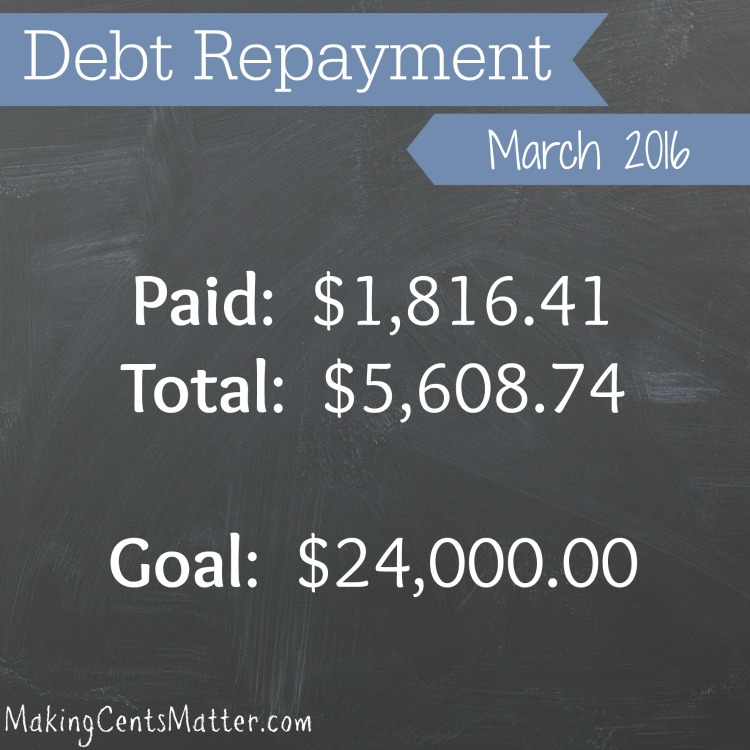 Debt Progress March 2016