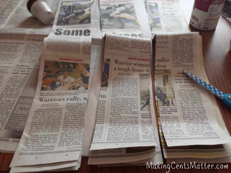 newspaper pots 1