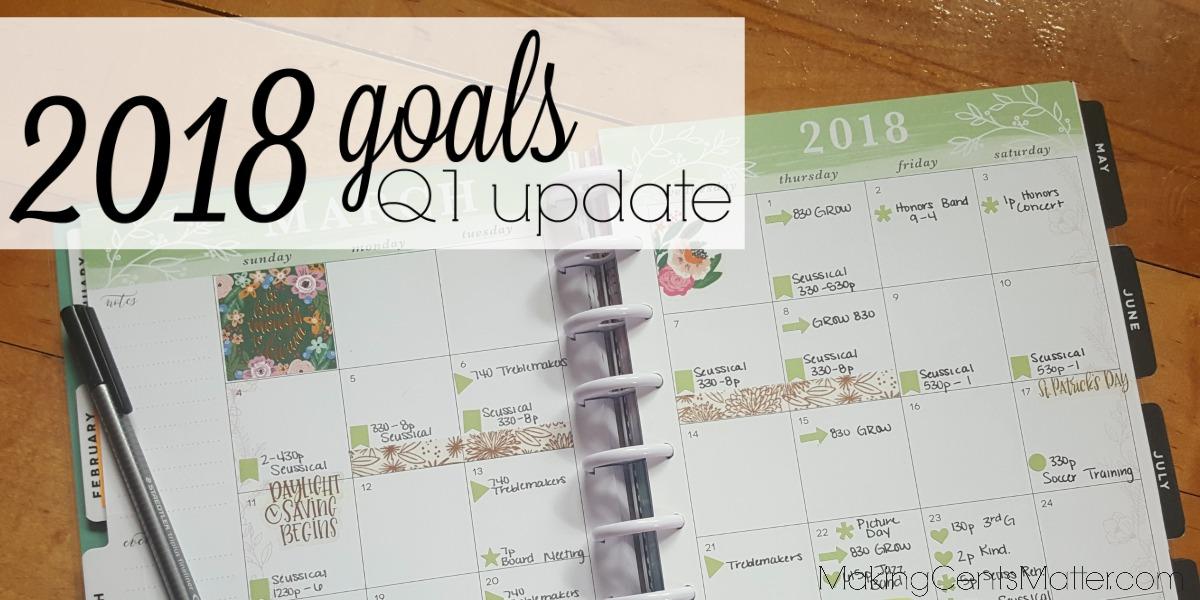 2018 Goals Q1 Update
