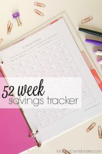 52 Week Savings Tracker