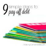 9 Simple Steps To Pay Off Debt