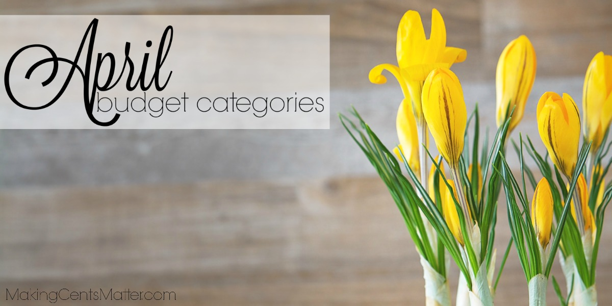 April Budget Categories