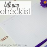 Bill Pay Checklist | Organize Your Finances With This Free Printable!