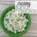 Creamy Tuna Noodles