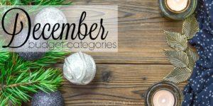 December Budget Categories