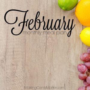 February 2018 Meal Plan