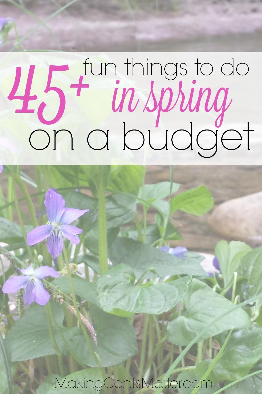 Frugal Spring Fun