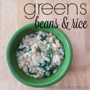 Greens Beans and Rice