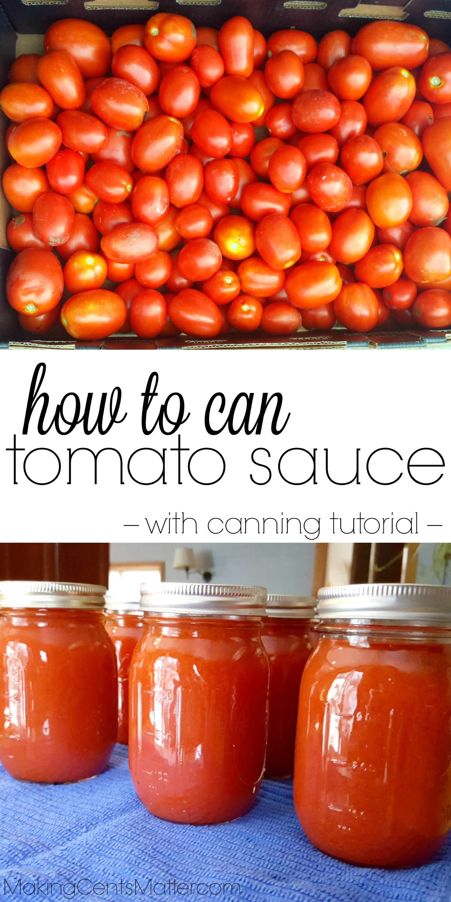 How To Can Tomato Sauce