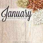 January 2018 Meal Plan