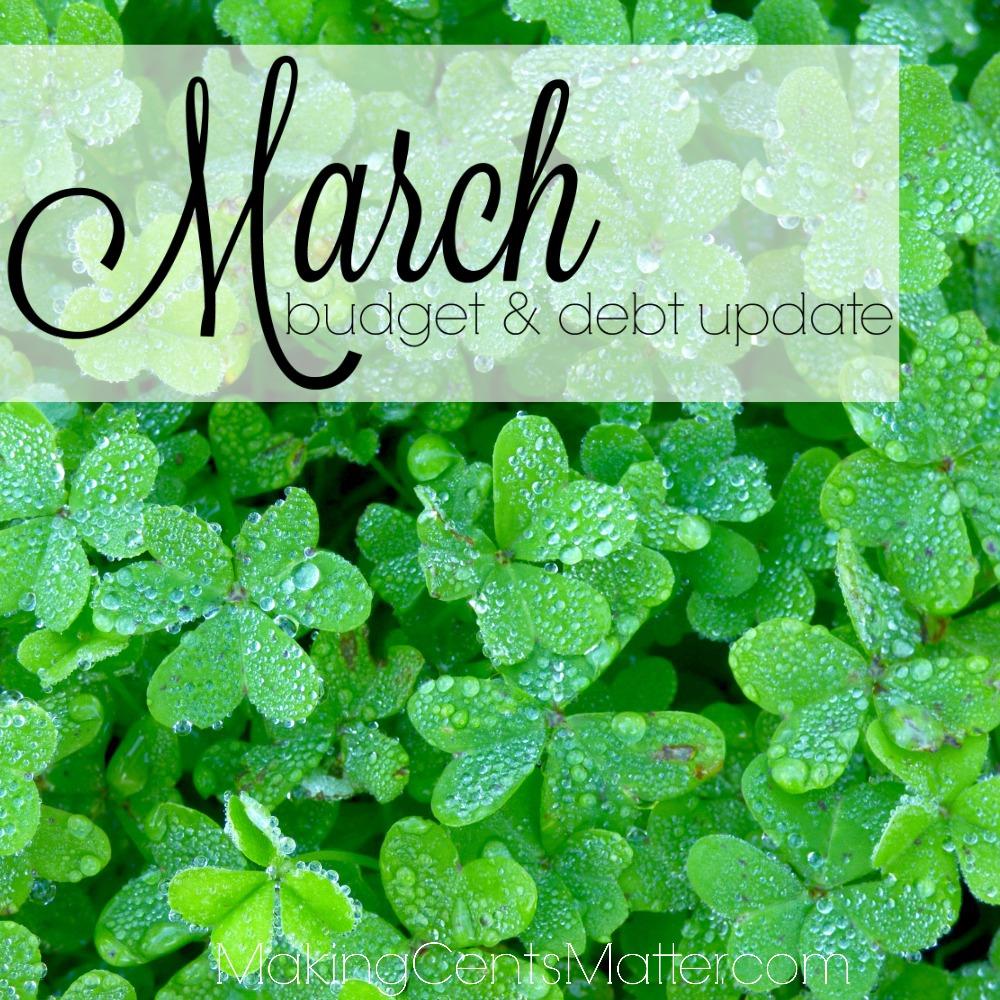 March 2017 Budget Debt Update