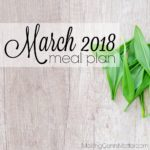 March 2018 Meal Plan