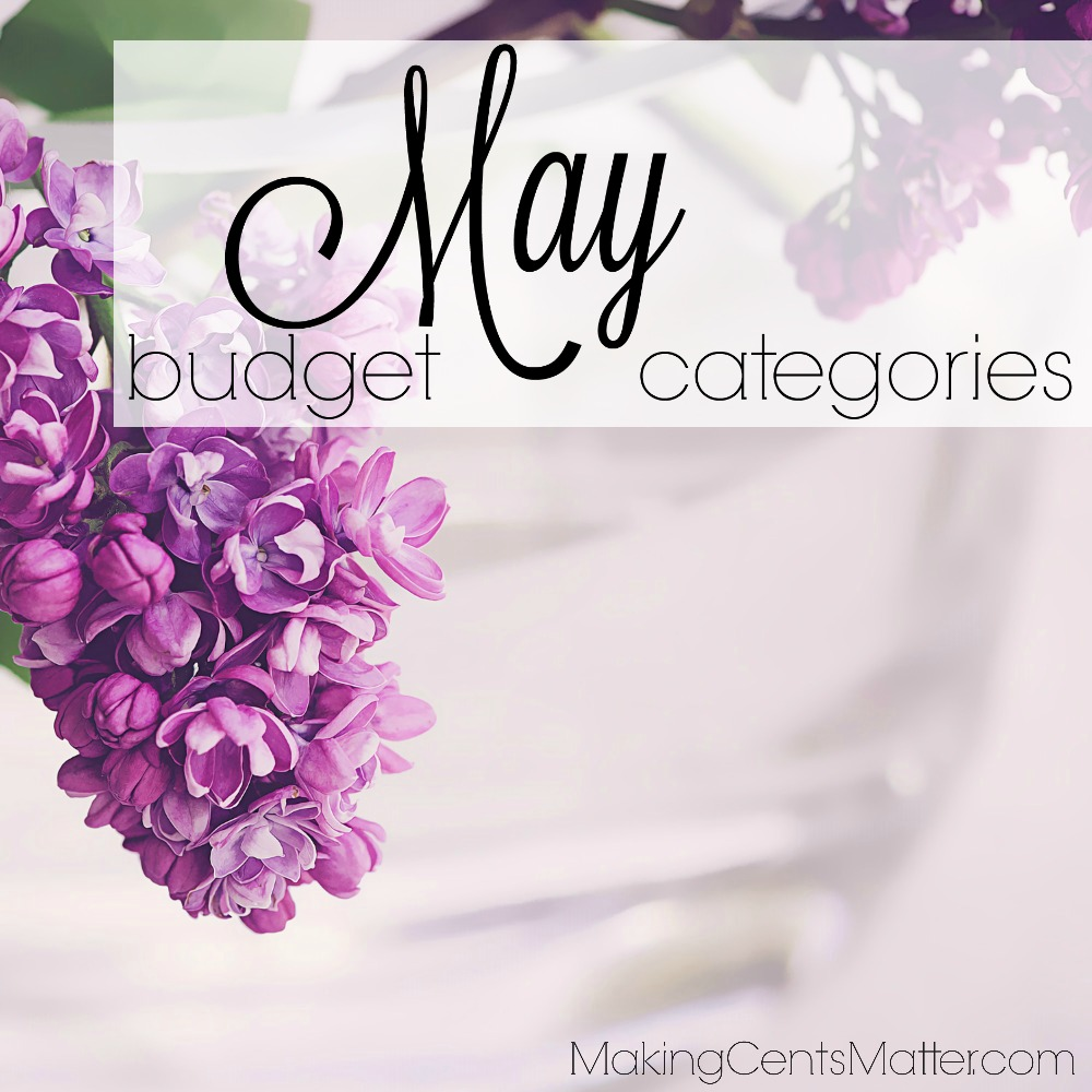 May budget categories