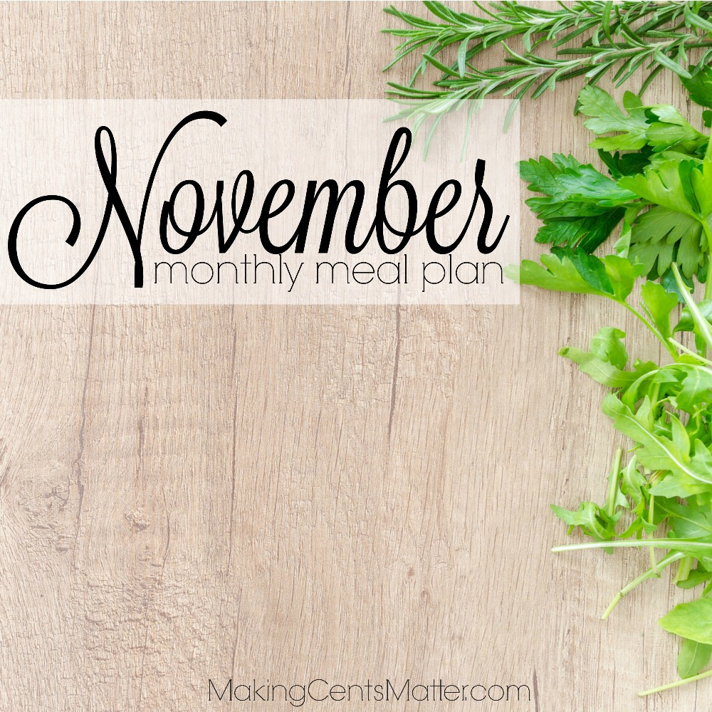 November 2017 Meal Plan