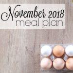 November 2018 Meal Plan