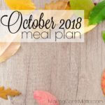 October 2018 Meal Plan