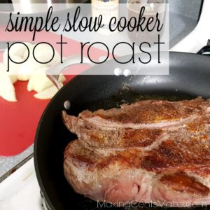 Simple Slow Cooker Pot Roast