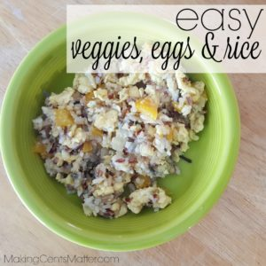 Vegetable Eggs & Rice
