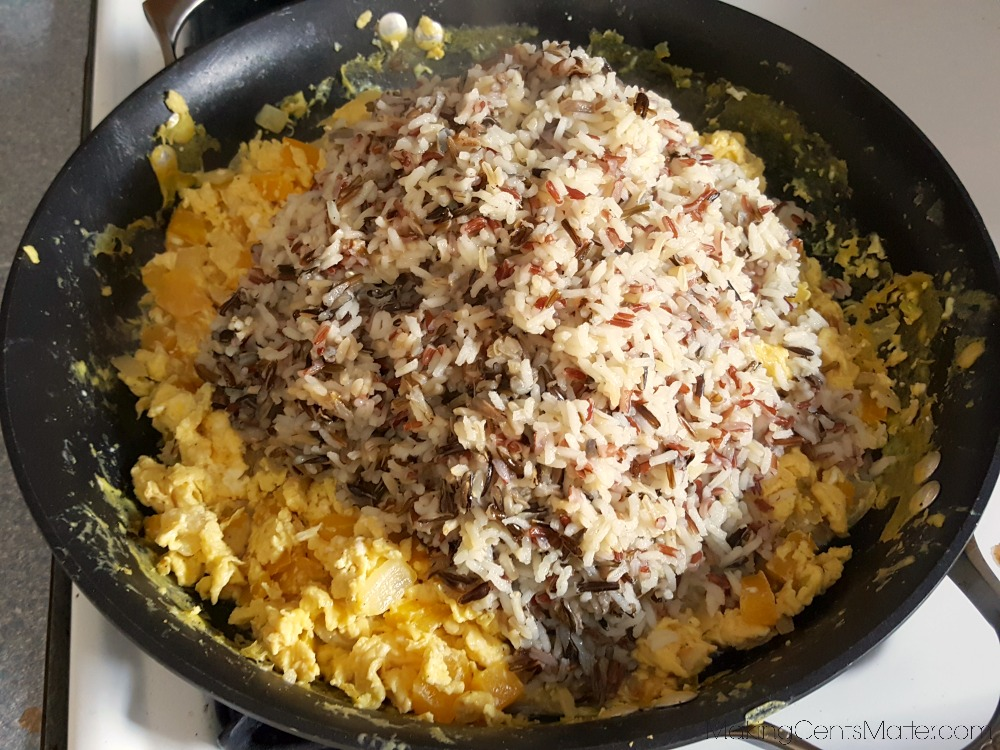 Vegetable Eggs & Rice