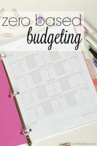 Zero Based Budget