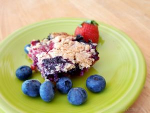 Berry Coconut Crumble Bars