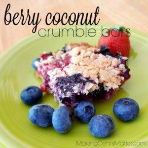 Berry Coconut Crumble Bars