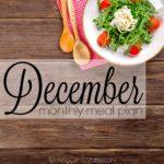December 2017 Meal Plan