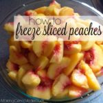 How to Freeze Sliced Peaches