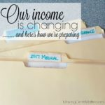 Our Income Is Changing, Here's How We're Preparing