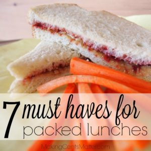 Must Haves Packed Lunches