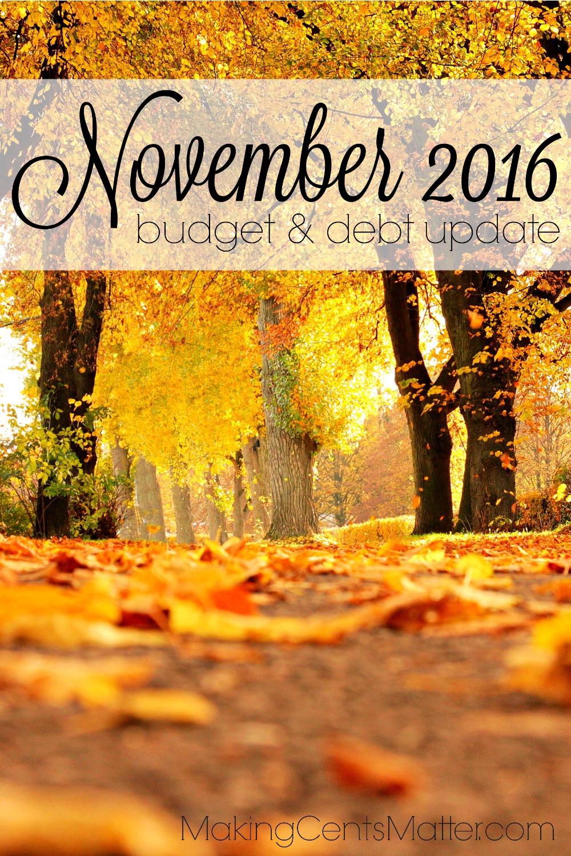 November 2016 Budget & Debt Update