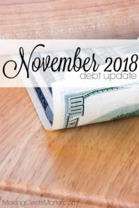 November 2018 Debt Update