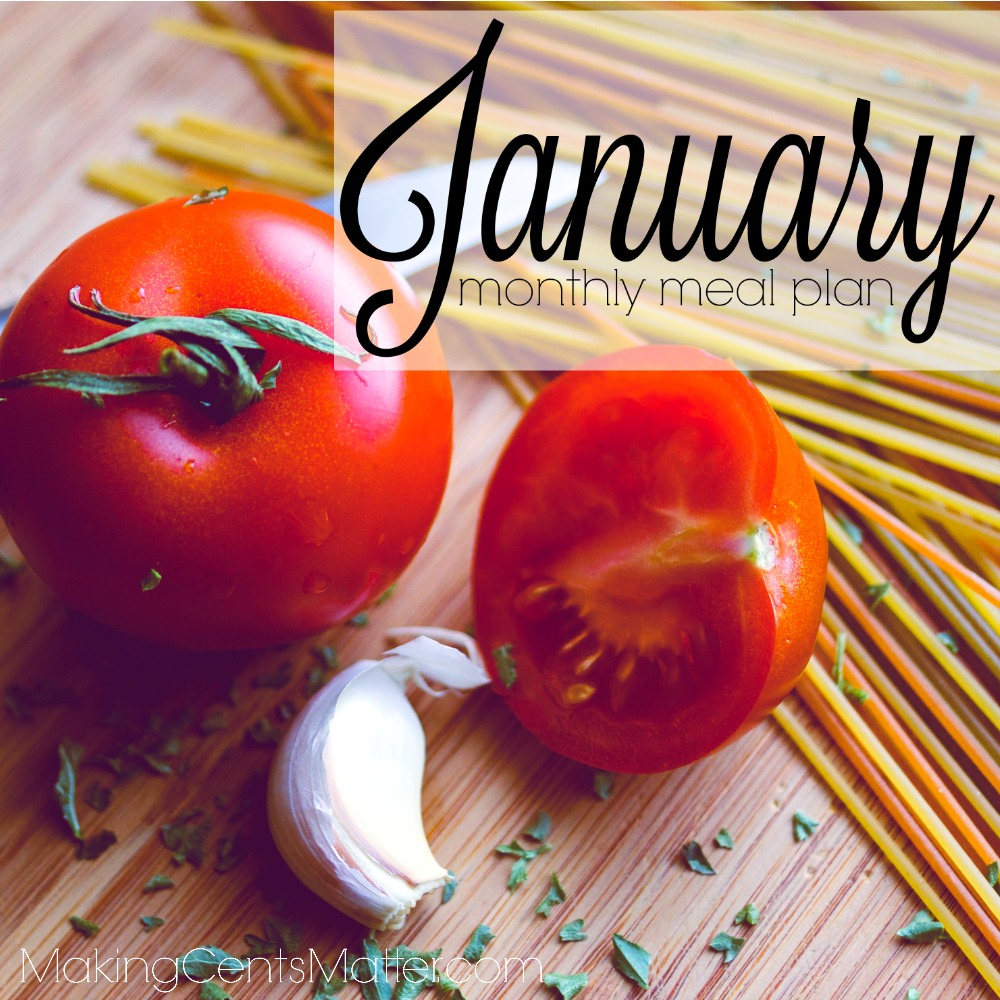 January 2017 Meal Plan