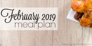 February 2019 Meal Plan