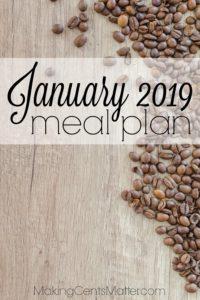 January 2019 Meal Plan