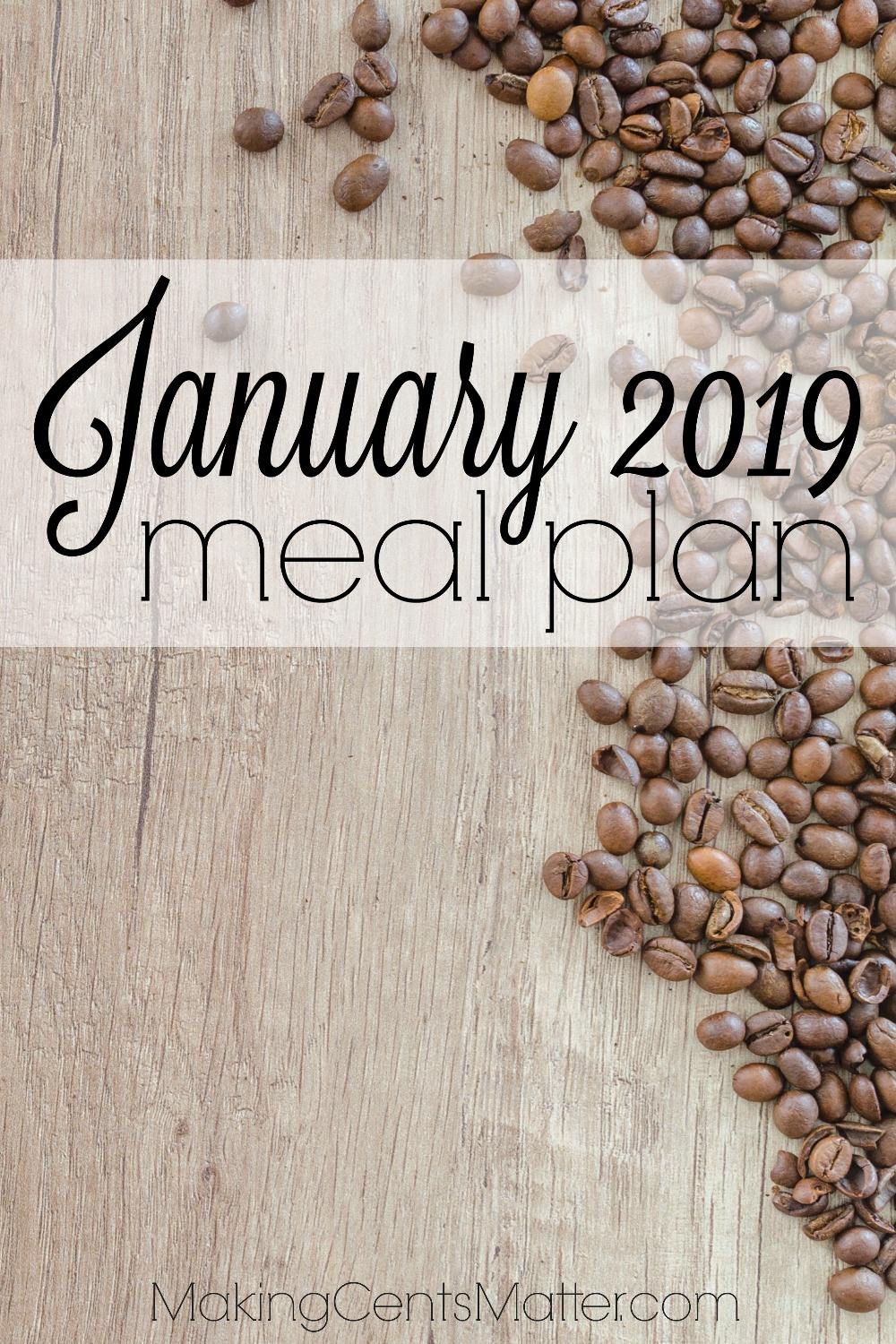 January 2019 Meal Plan