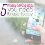 Five Money Saving Apps You Need