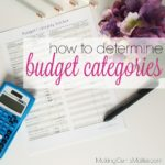 How To Determine Your Budget Categories