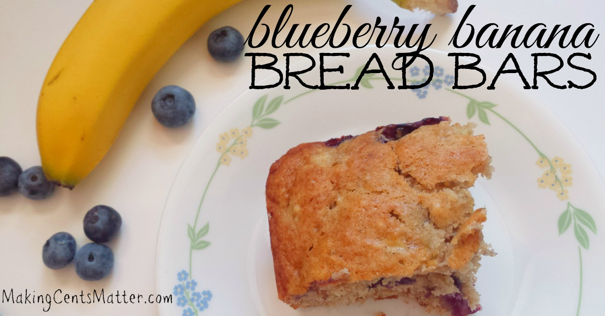 Blueberry Banana Bread Bar