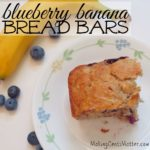 Blueberry Banana Bread Bars