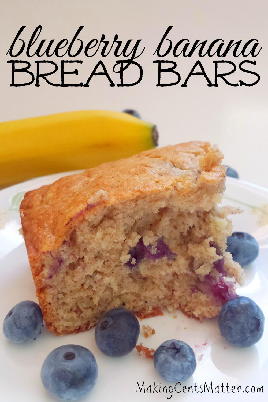 blueberry banana bread bars