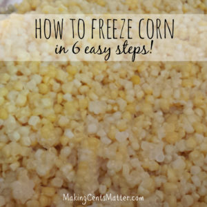 How To Freeze Corn In 6 Easy Steps